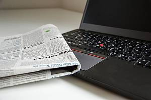 Presse Tageszeitung Notebook